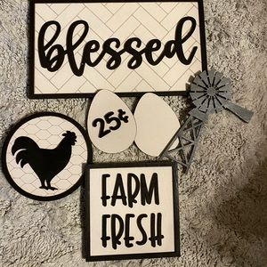 farmhouse tray decor